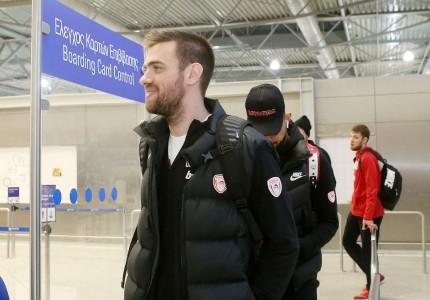 Φωτογραφικά «κλικ» από την αναχώρηση του Ολυμπιακού για την Πόλη
