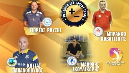 Οι 11 προπονητές της Volleyleague κάνουν το «ταμείο» του Α΄ γύρου