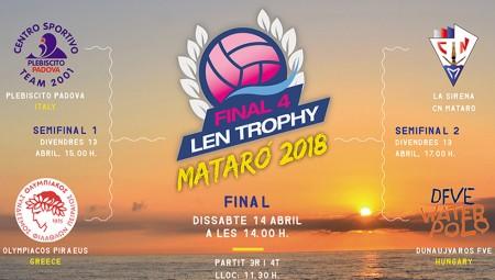 Οι ώρες του Final-4 του LEN Trophy