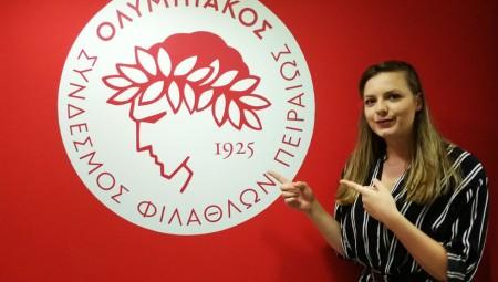 «Περήφανη που είμαι μέλος της οικογένειας του Ολυμπιακού»