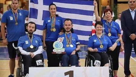 Χρυσό μετάλλιο στο μπότσια στο Παγκόσμιο