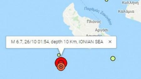 Ισχυρός σεισμός 6,7 ρίχτερ στη Ζάκυνθο!