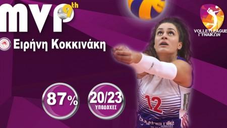 MVP της 9ης αγωνιστικής η Κοκκινάκη