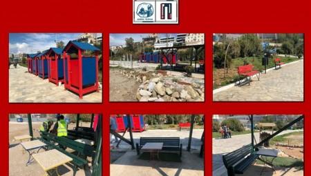 Εργασίες συντήρησης στα Βοτσαλάκια από τον Δήμο Πειραιά