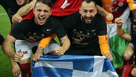 Πανηγύρισε το πρωτάθλημα με την ελληνική σημαία ο Μήτρογλου (pic)