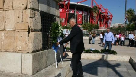 Ο Γιάννης Μώραλης στην επιμνημόσυνη δέηση για τον εορτασμό της 28ης Οκτωβρίου