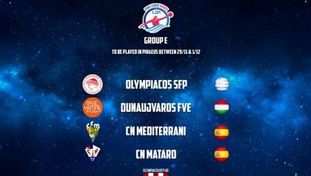 Το πρόγραμμα του Ολυμπιακού στον όμιλο της LEN Euroleague...