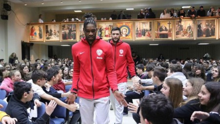 Ο Ολυμπιακός στην «ημέρα εκπαίδευσης» (photos)
