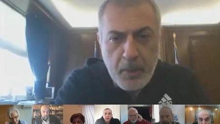 Τηλεδιάσκεψη του Δημάρχου Πειραιά με τους επικεφαλής δημοτικών παρατάξεων