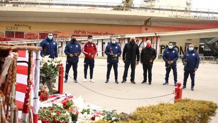 Τίμησε τη μνήμη των θυμάτων και η Ακαδημία του Ολυμπιακού (photo)