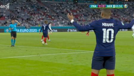 Γαλλία - Γερμανία: Το υπέροχο γκολ του Εμπαπέ που ακυρώθηκε (video)