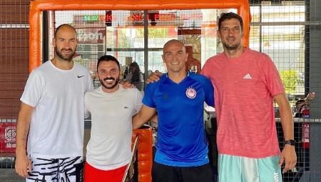 Σπανούλης, Καμπιάσο και Βούκσεβιτς έπαιξαν padel! (photo)