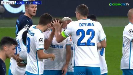 Champions League: «Κλείδωσε» τη νίκη η Ζενίτ (video)
