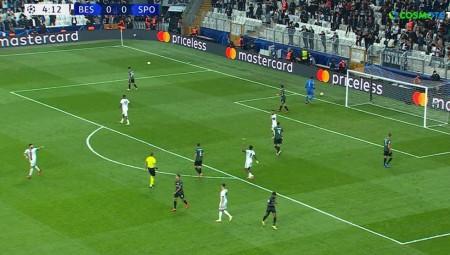 Champions League: Διέλυσε τη Μπεσίκτας η Σπόρτινγκ! (video)