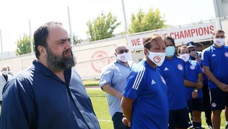 Μαρινάκης: «Συγχαρητήρια για το πρωτάθλημα, τώρα το Κύπελλο»! (video)