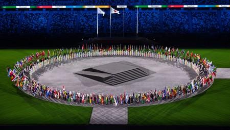 Ο Φουντούλης σημαιοφόρος της Ελλάδας στην τελετή λήξης των Ολυμπιακών Αγώνων