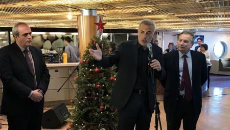 Ο Γιάννης Μώραλης στην κοπή πίτας του Συλλόγου απανταχού Καρπαθιωτών