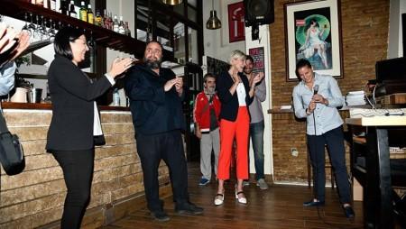 Μαρινάκης - Μώραλης στην εκδήλωση της Φιλιώς Μανωλιουδάκη