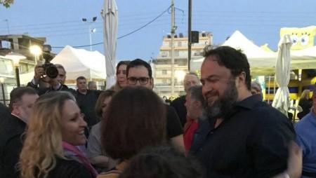 Σε Καμίνια και πλατεία Αλεξάνδρας ο Βαγγέλης Μαρινάκης (pics)