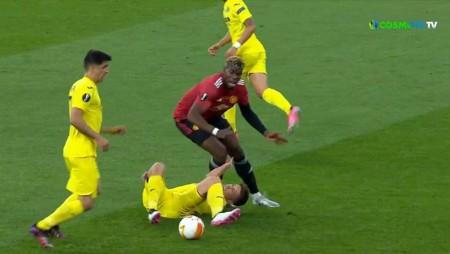 Τελικός Europa League | Άτυχος ο Φόιθ: Έπεσε πάνω στο γόνατο του Πογκμπά! (video)
