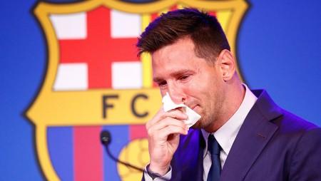 Μέσι: Έβαλε τα κλάματα στο αντίο στη Μπαρτσελόνα! (video)