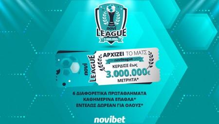 Η νέα Novileague ξεκινά! Κέρδισε έως 3.000.000€* & καθημερινά χρηματικά έπαθλα*