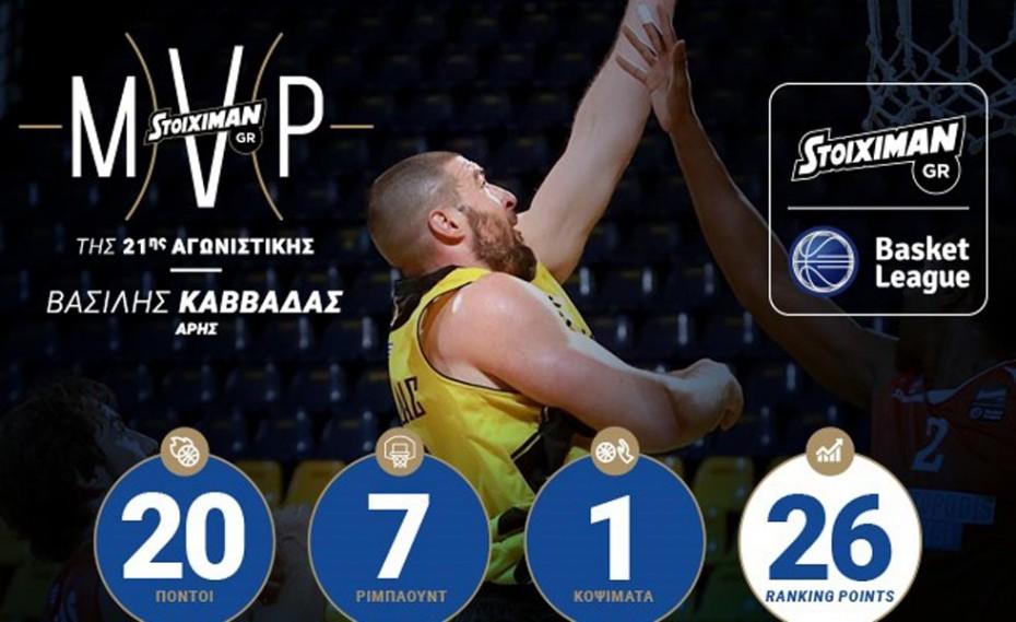 Οι MVP της 21ης αγωνιστικής της Stoiximan.gr Basket League