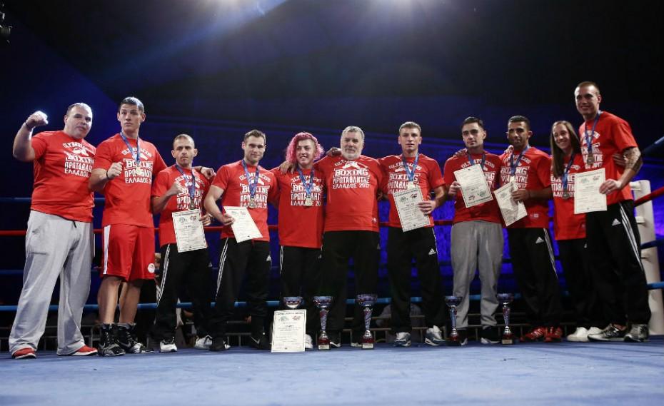 Πανελλήνιος Πρωταθλητής της Πυγμαχίας ο ΟΛΥΜΠΙΑΚΟΣ!