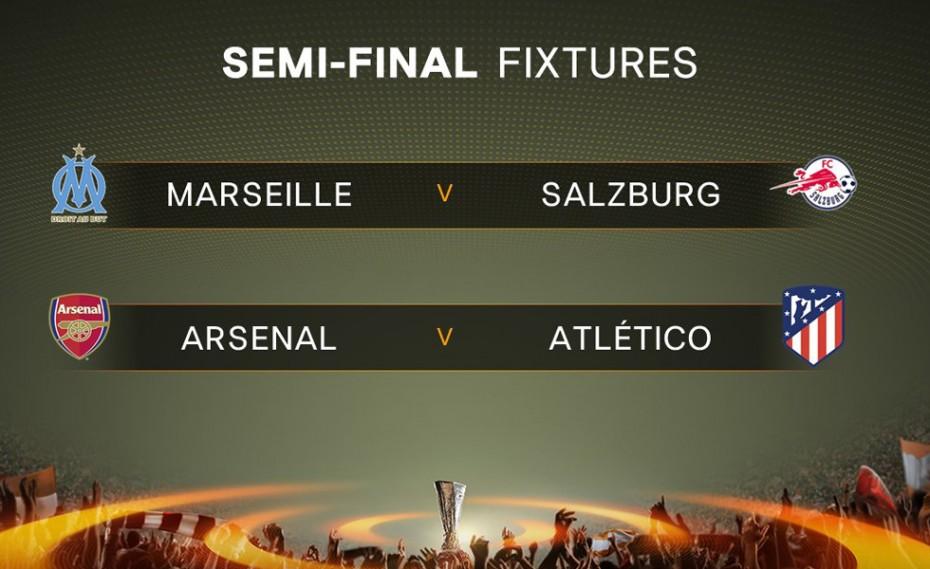 Η κλήρωση για τα ημιτελικά του Europa League (pic)