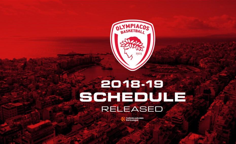 Το πρόγραμμα του Ολυμπιακού στην Ευρωλίγκα! (pic)