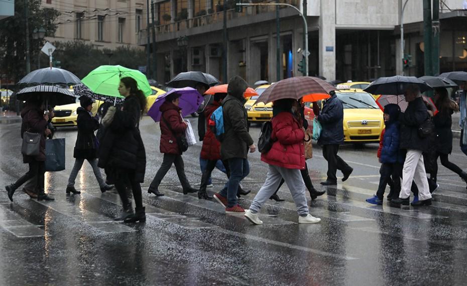 Βροχές και πτώση της θερμοκρασίας