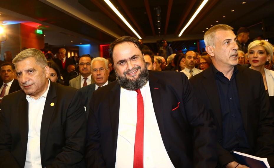 Ο Βαγγέλης Μαρινάκης στην παρουσίαση του ψηφοδελτίου του συνδυασμού «Πειραιάς Νικητής» (vid)