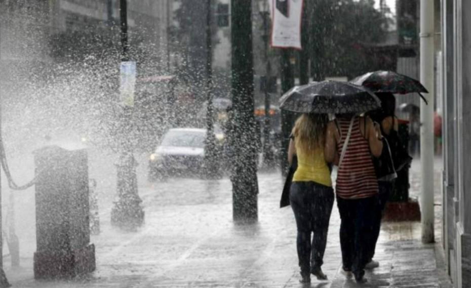 Βροχές και χαλάζι σε πολλές περιοχές