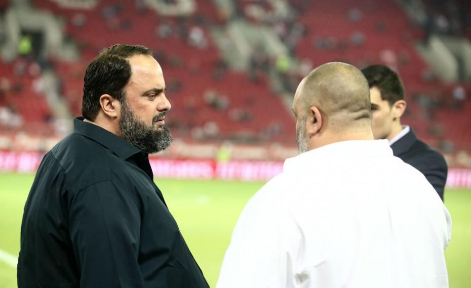 Στο πλευρό της ομάδας για μία ακόμη φορά ο Βαγγέλης Μαρινάκης!