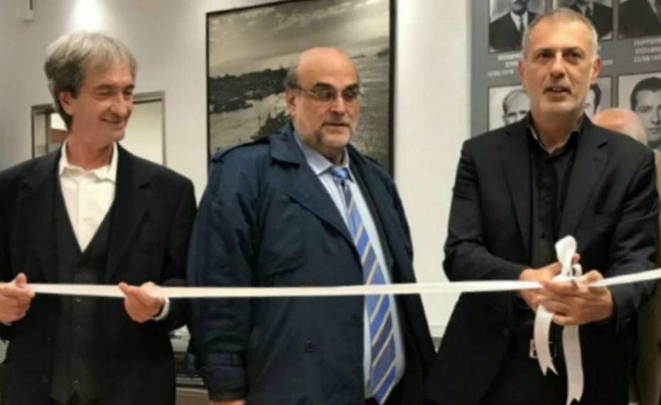 Ο Γιάννης Μώραλης εγκαινίασε την αίθουσα ιστορικής μνήμης του Συλλόγου Εκτελωνιστών!