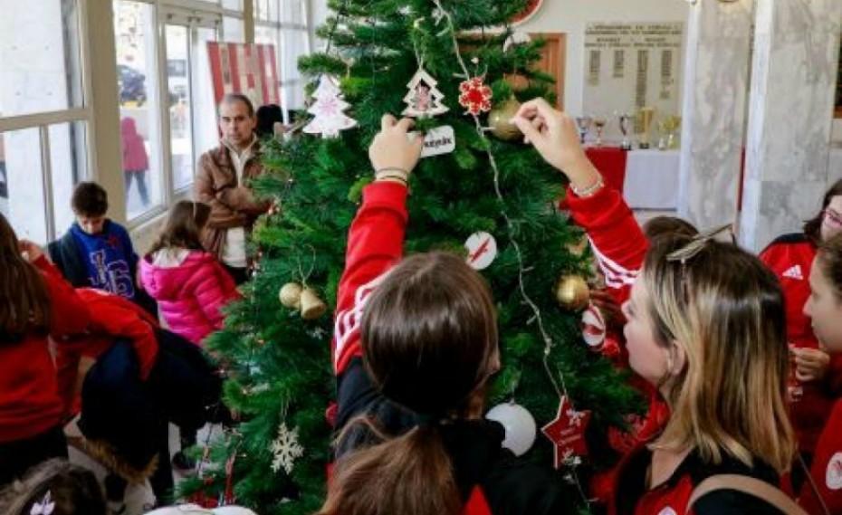 Στόλισαν το Χριστουγεννιάτικο δέντρο τους οι Ακαδημίες του Ερασιτέχνη
