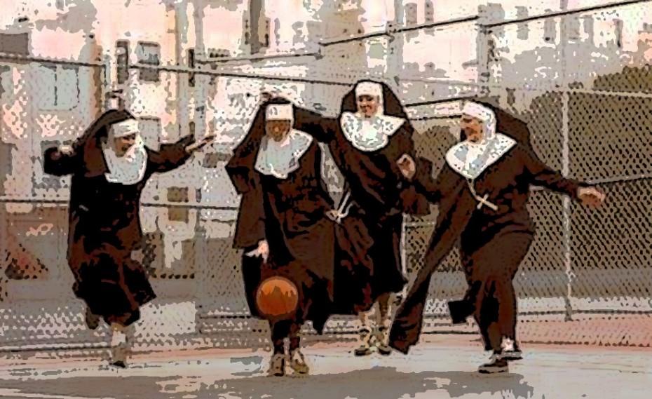 Θεϊκό… Καλόγριες παίζουν μπάσκετ για να… ξεσκάσουν! (video)