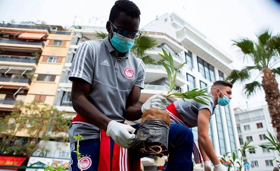 Η ακαδημία του Ολυμπιακού φροντίζει το περιβάλλον! (video + photos)