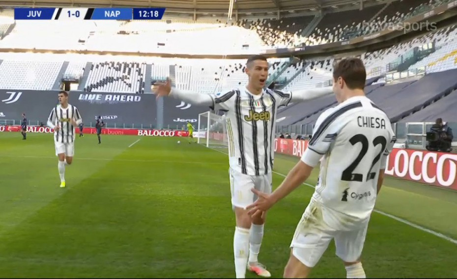 «Χάζεψε» δύο αμυντικούς ο Κιέζα και 1-0 ο Ρονάλντο! (video)