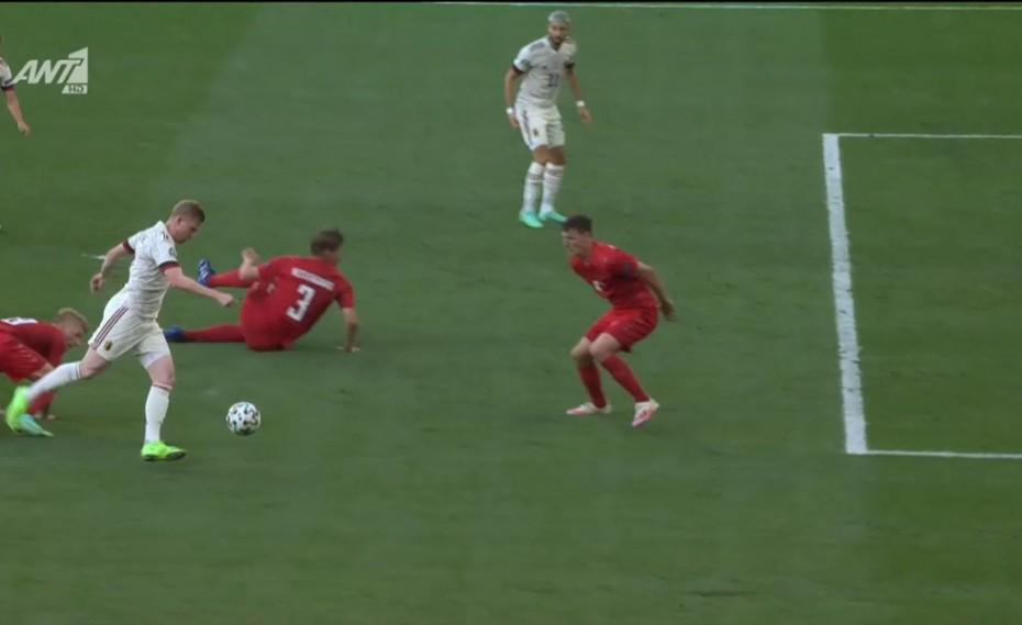 Δανία-Βέλγιο: «Χάθηκε» η μπάλα και 1-1 (video)