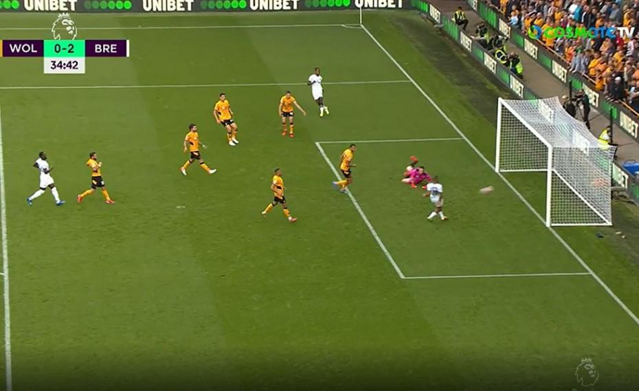 «Εφιάλτης» για Σα, 0-2 η Μπρέντφορντ τη Γουλβς, στο ημίχρονο (video)